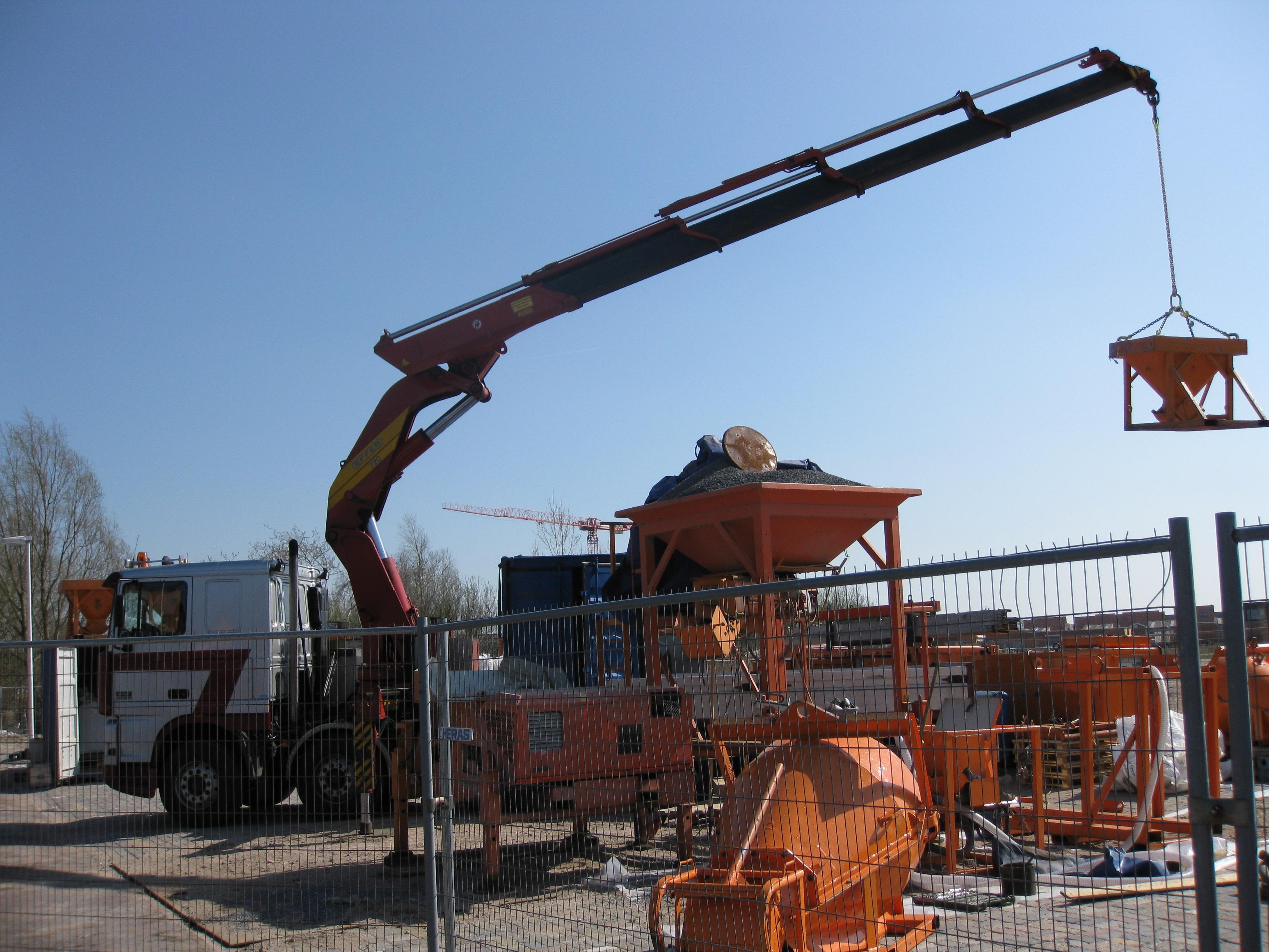 Auto laadkraan opbouw bouw
