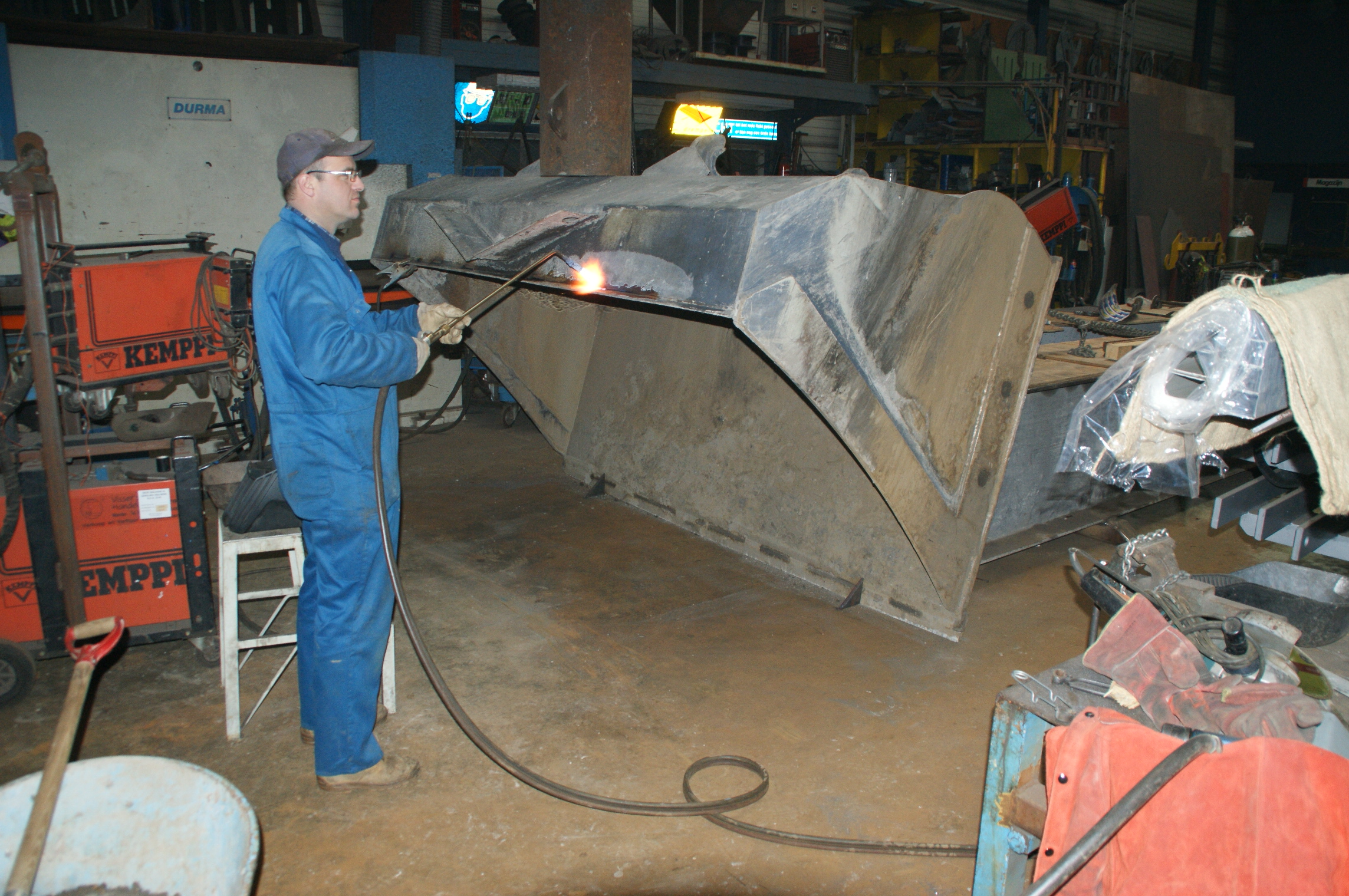 Reparatie shovelbak